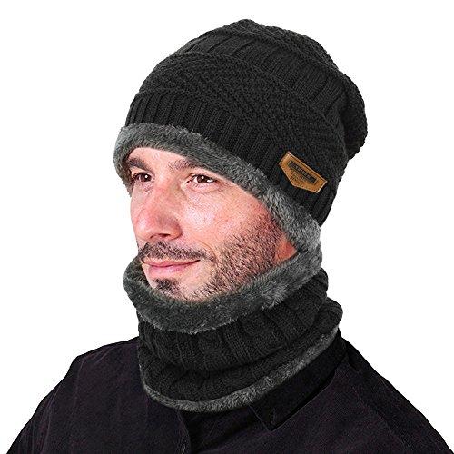 9abddec4543 HindaWi Womens Beanie Winter Hat Scarf Set Slouchy Warm Snow Knit ...
