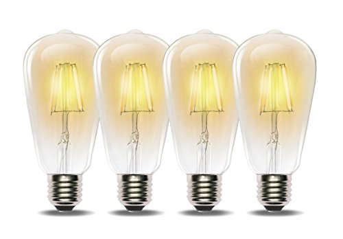 Wall Scone for Pendant Home Light Fixtures Decorative Dimmable 60W ST64 Antique Squirrel Cage Filament Light Bulb Lantern Pack of 6 E26 Base Restaurant TORCHSTAR Vintage Edison Bulbs
