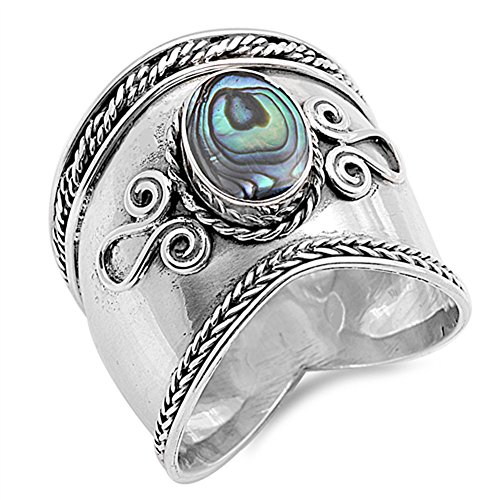 CloseoutWarehouse Oxidized Sterling Silver Plain Swan Ring