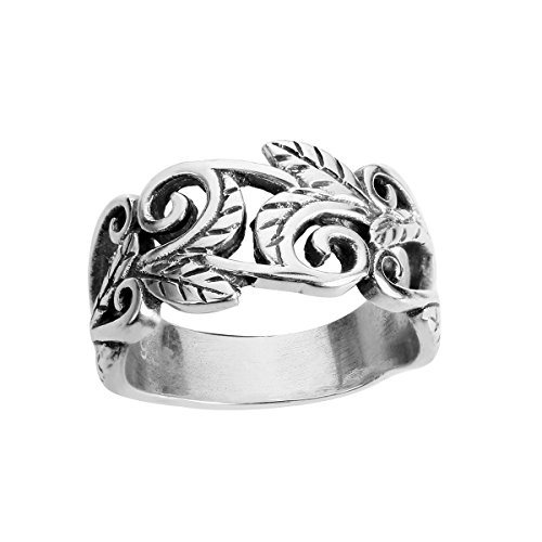 CloseoutWarehouse Sterling Silver Double Braid Design Band Ring