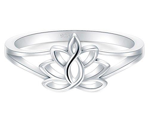 CloseoutWarehouse Sterling Silver Triple Flower Ring