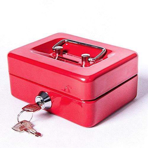 a74ac7d7cfb9 Jssmst Locking Small Steel Cash Box with Money Tray,Lock Box,Blue ...