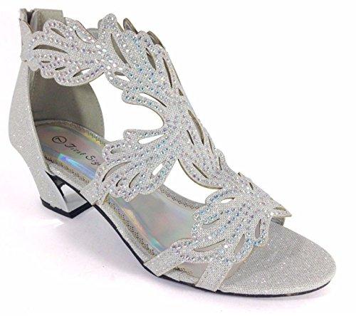 57f69527d Enzo Romeo Lime03N Womens Open Toe Mid Heel Wedding Rhinestone Gladiator  Sandal Wedge Shoes 8, Silver